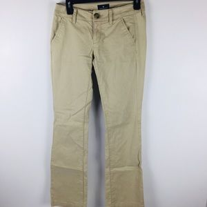 American Eagle Kick Boot Khaki Pants Sz 0